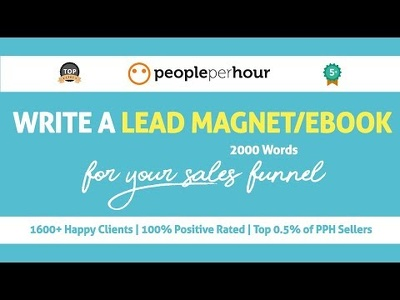 Write a lead magnet/eBook for your business (2000 words)