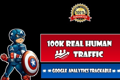 Bring 100,000 Real human  Website Traffic
