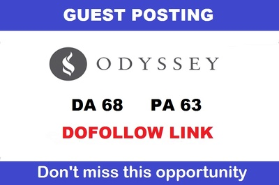 Publish a guest post on TheOdysseyOnline - DA68, TF47, DR63