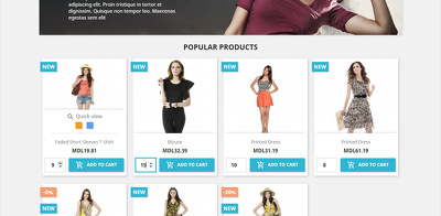 Prestashop. Add plenty of products from Home / Category to cart