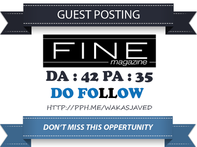 Guest post on Fine Magazine - Finehomesandliving.com Dofollow