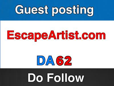 Guest post on EscapeArtist.com  – Escape Artist – DA 60