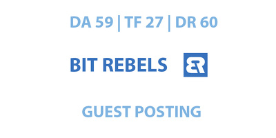 Publish a guest post on Bit Rebels - DA59, TF27, DR60