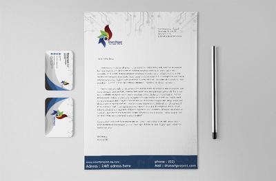 Design Creative Business Card, Letterhead