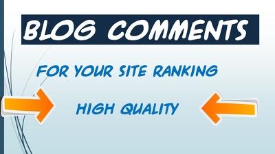 Write & publish 11 Niche relevant Blog Comments for your site
