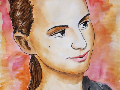 I will paint your watercolor/ink portrait