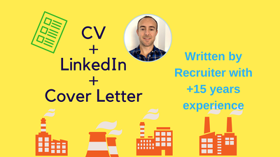 CV, Linkedin AND Cover Letter from HR Specialist in <7days