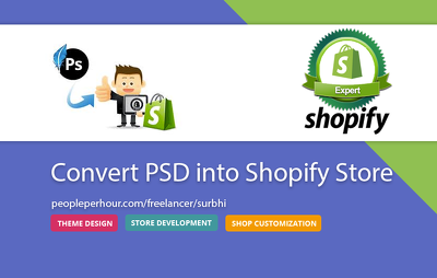 Convert your PSD into Shopify store
