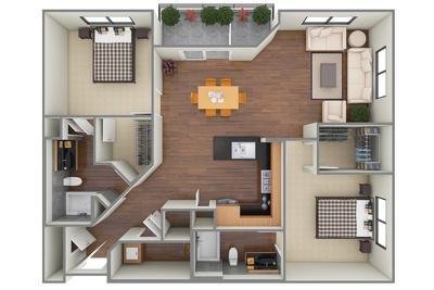 Create a 3D floor plan for presentation