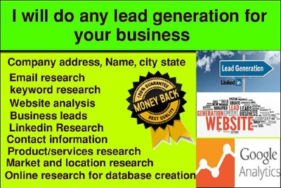 Do 200 B2b Lead Generation  for you