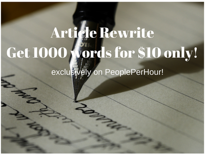 Rewrite your 1000 word article in a day for