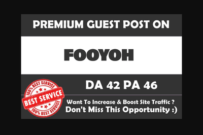 Guest Post On Fooyoh Dot Com, DA 44, PA 48