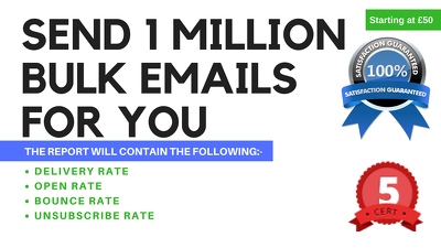 Send 100K Bulk Emails, Email Blast, Email Marketing