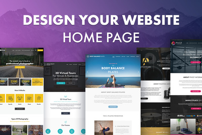Design your website home page and provide the PSD