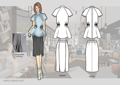 Do 2 pcs fashion flat technical drawings (front+back)