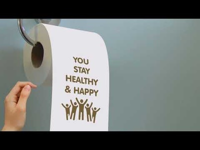 Create a message on a toilet roll video greeting