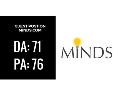 Guest Post on Website Minds.com DA 71
