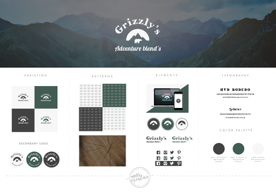 Brand identity package: Logo +  style guide + stationary