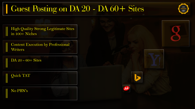 Provide you Guest Posting on DA 20 to DA 40+ Websites