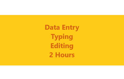 Do Data Entry work for 2 hours apart from Editing & Translation