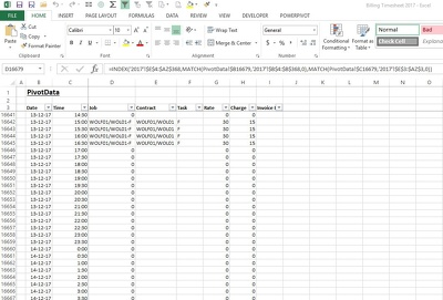 Provide 1 hour of Excel formula assistance