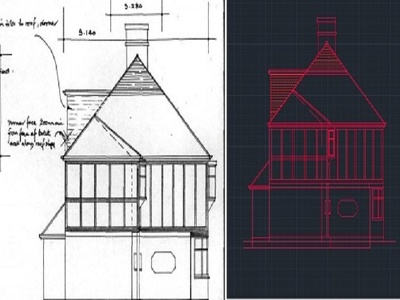 Convert hand drawing sketches to Autocad