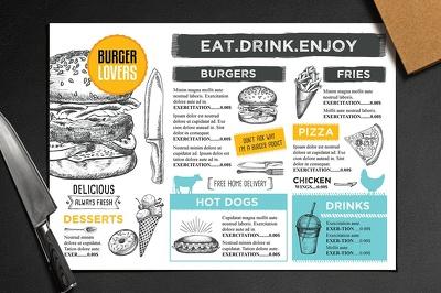 Design a restaurant/bar/cafe menu
