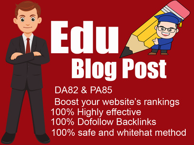 guest post on Edu Blog with DoFollow Backlinks DA82, PA85 in 24H