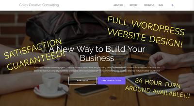 Design/Build Full WordPress Website (3 MONTHS FREE MAINTENANCE)