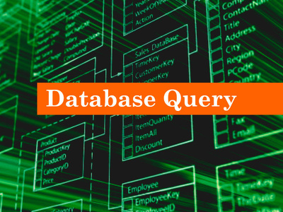 Create query for your database mysql, mssql, etc