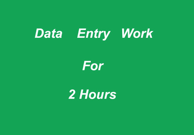 Do all type of data entry job for 2 hour