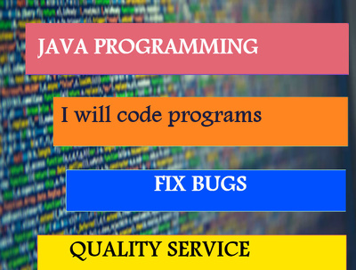 Do bug fixing and complete java projects