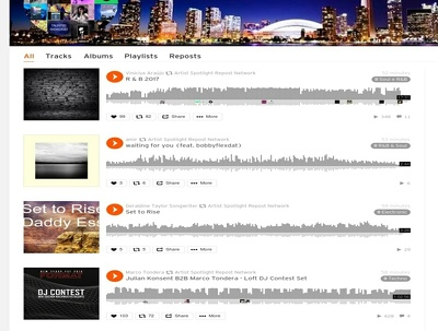 Repost your track on Soundcloud Network