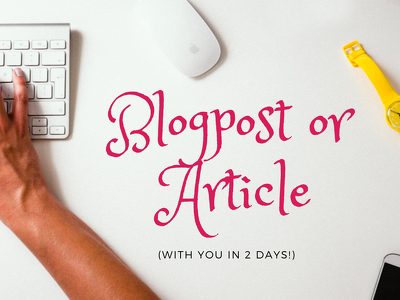 Write a captivating 500 word blog post or article