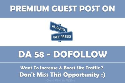 Publish a Guest Post on Augustafreepress.com - DA 58