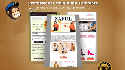 create and design eye-catching, responsive email newsletter