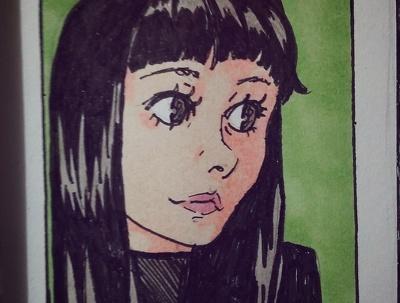 Create a traditional illustration portrait