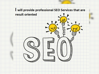 Provide professional SEO Services that are result oriented