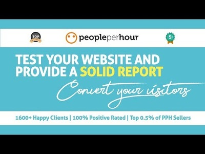 Test your website and report on improving your conversions