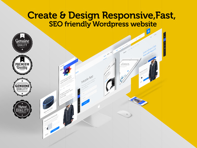 Create & design responsive,fast, SEO friendly Wordpress website