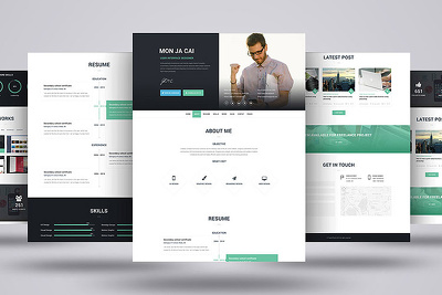 Design web template or landing page in PSD