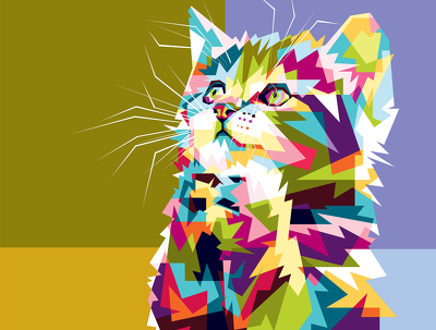 Make colorful animal portrait for you