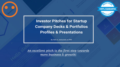 Design your company profile or investor pitch deck