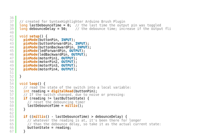 Code in Arduino