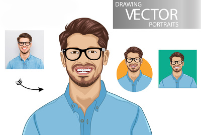 Draw Portrait Avatar Cartoon Caricature from Photo in 48 hours