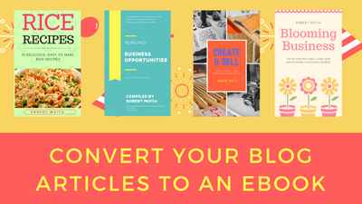 Convert your Blog articles into an ebook