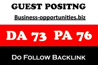 Publish Guest Post on Business-opportunities.biz DA-73 Do Follow