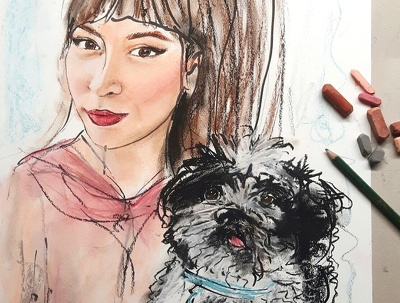Draw a portrait of you or your family / pets