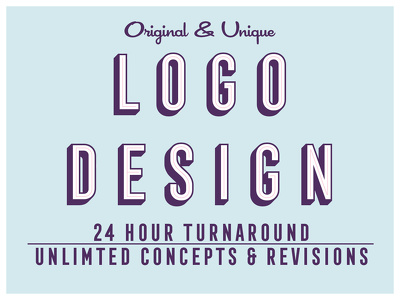 Unlimited Logo Concepts + Favicon + Source Files in 24hrs