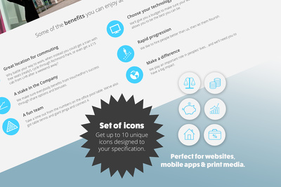 Design an icon set (10 icons)
